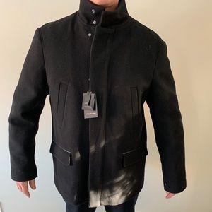 Mackage Mens Wool Black Coat BNWT